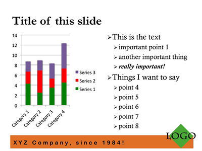 a typical Powerpoint slide